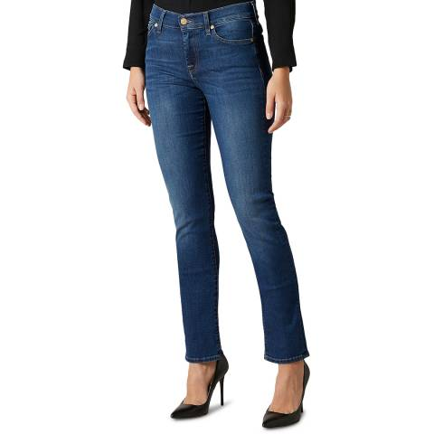 7 For All Mankind Blue Denim Roxanne Stretch Jeans