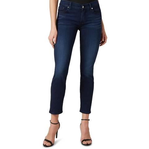 7 For All Mankind Indigo Roxanne Crop Stretch Jeans
