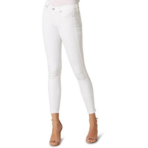 7 For All Mankind White The Skinny Slim Evolution Stretch Jeans