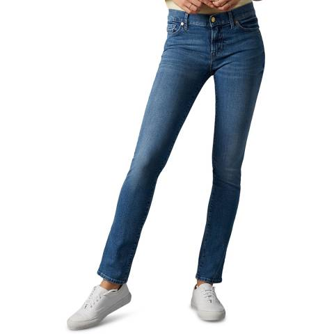 7 For All Mankind Blue Roxanne Stretch Jeans