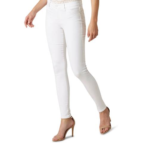 7 For All Mankind White Skinny Slim Illusion Stretch Jeans