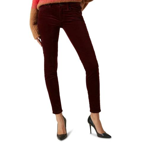 7 For All Mankind Red The Skinny Stretch Jeans
