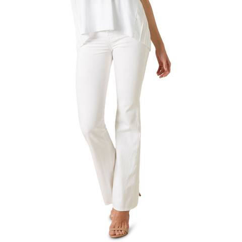 7 For All Mankind White Lisha Stretch Jeans