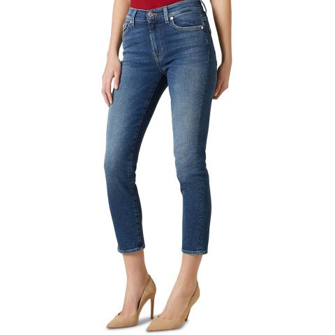 7 For All Mankind Blue Roxanne Luxe Stretch Jeans