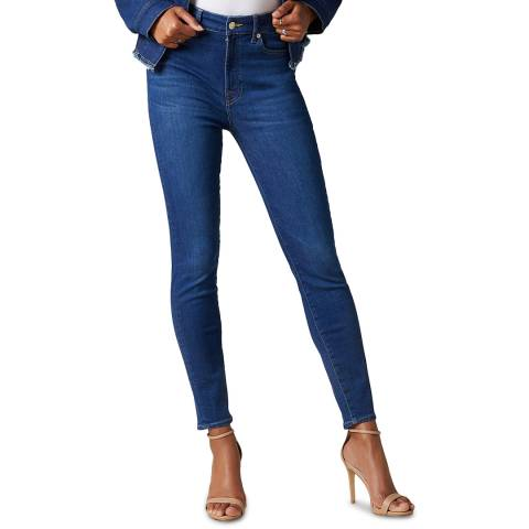 7 For All Mankind Blue Aubrey Slim Illusion Stretch Jeans