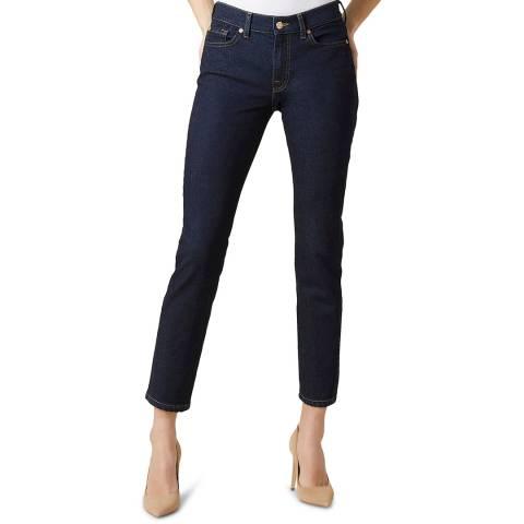 7 For All Mankind Dark Denim Roxanne Stretch Jeans