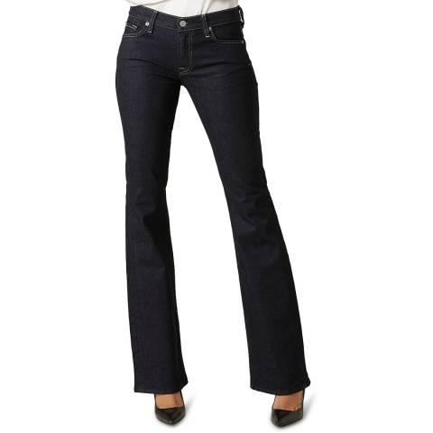 7 For All Mankind Dark Denim The Original Bootcut Stretch Jeans