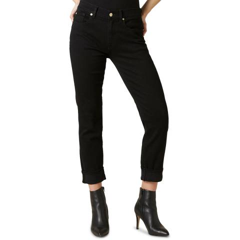 7 For All Mankind Black Illusion Relaxed Skinny Jeans