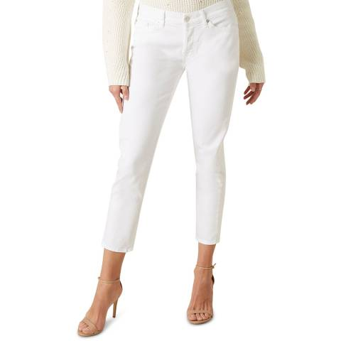 7 For All Mankind White Josefina Stretch Jeans