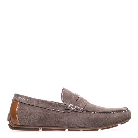 Steptronic Khaki Dover Suede Formal Shoes