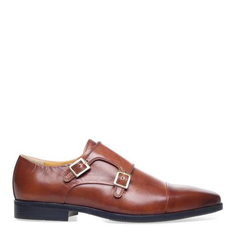 Steptronic Cognac Hampstead Leather Formal Shoes
