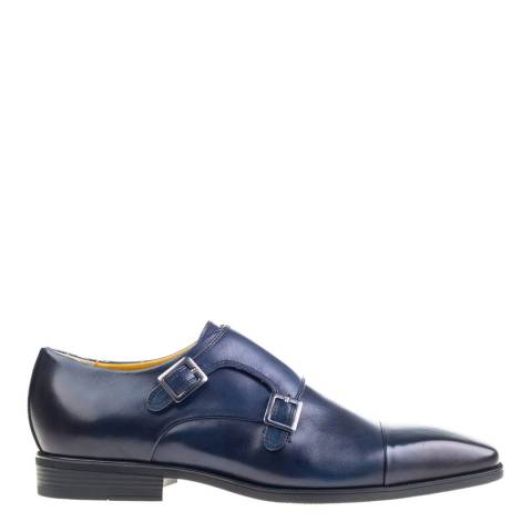 Steptronic Navy Hampstead Leather Formal Shoes