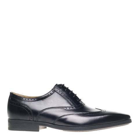 Steptronic Black Hastings Leather Formal Shoes