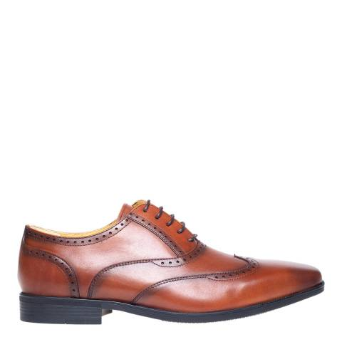 Steptronic Cognac Hastings Leather Formal Shoes