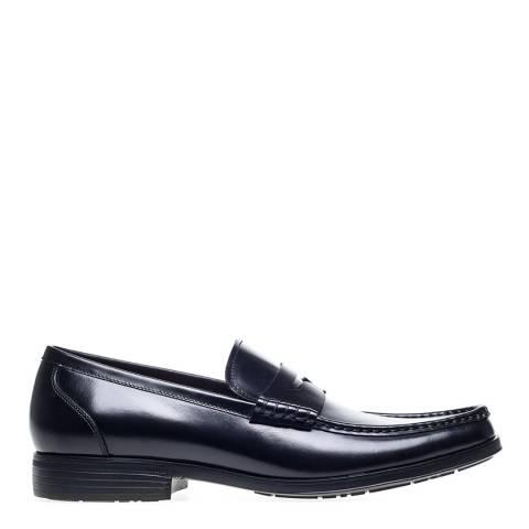 Steptronic Black Mclaren Leather Formal Shoes
