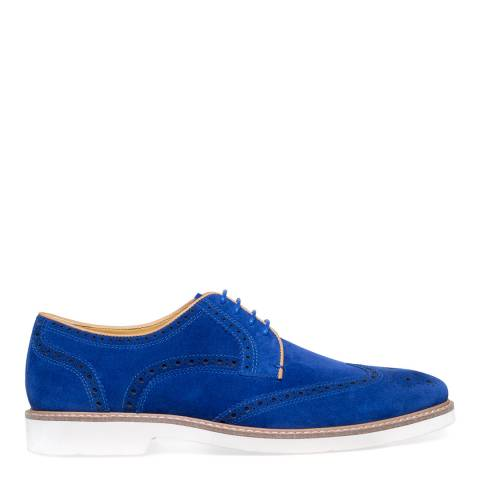 Steptronic Blue Quantum Suede Formal Shoes