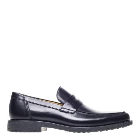 Steptronic Black Audi Leather Formal Shoes