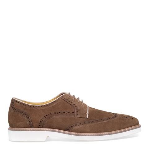 Steptronic Khaki Quantum Suede Formal Shoes