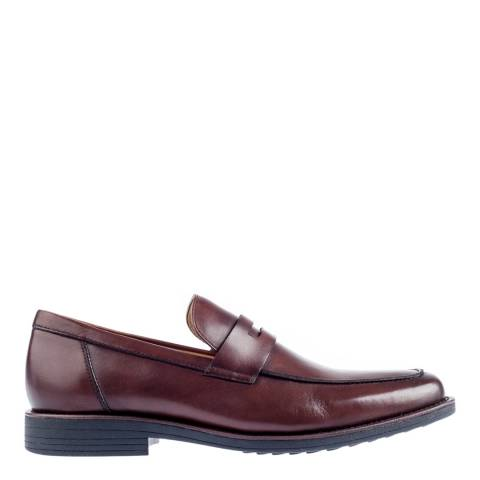 Steptronic Dark Brown Audi Leather Formal Shoes