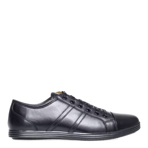 Steptronic Black React Leather Formal Shoes