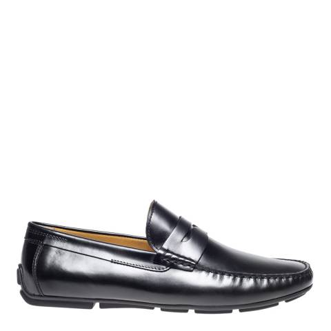 Steptronic Black Dover Leather Formal Shoes