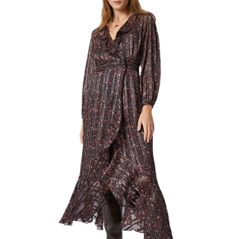 Great Plains Burgundy Print Spritz Dress