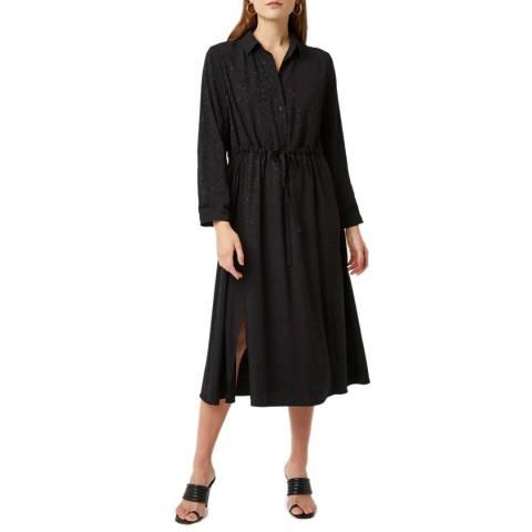 Great Plains Black Peppy Jacquard Shirt Dress