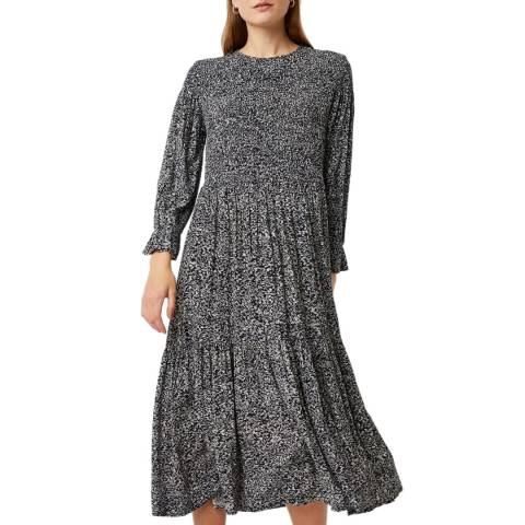 Great Plains Black Print Ivy Fleur Smock Dress