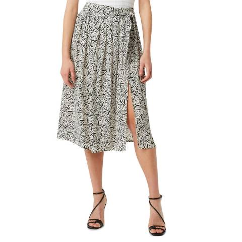 Great Plains Black Print Javan Skirt
