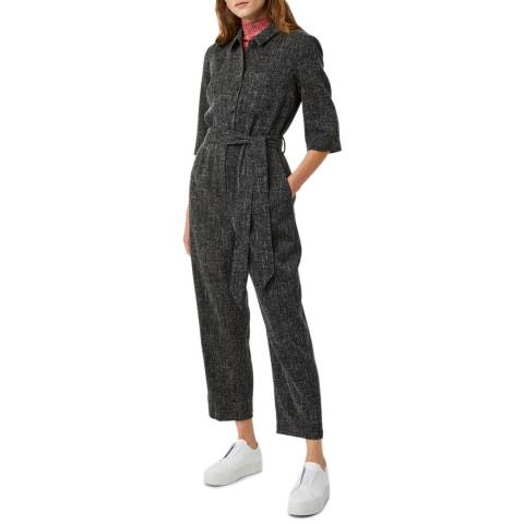 Great Plains Black Modern Tweed Jumpsuit