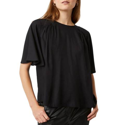 Great Plains Black Peppy Short Sleeve Top