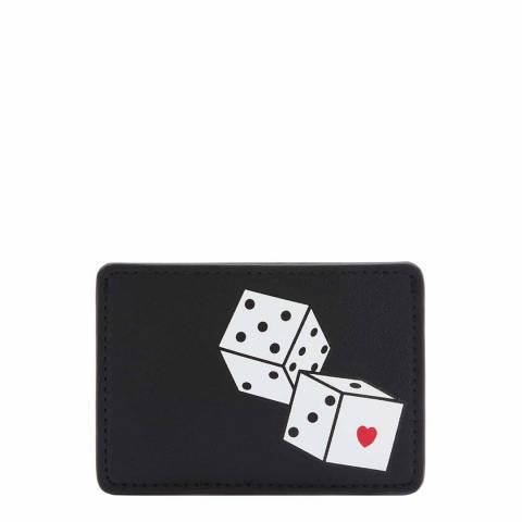 Lulu Guinness Black Dice Cardholder