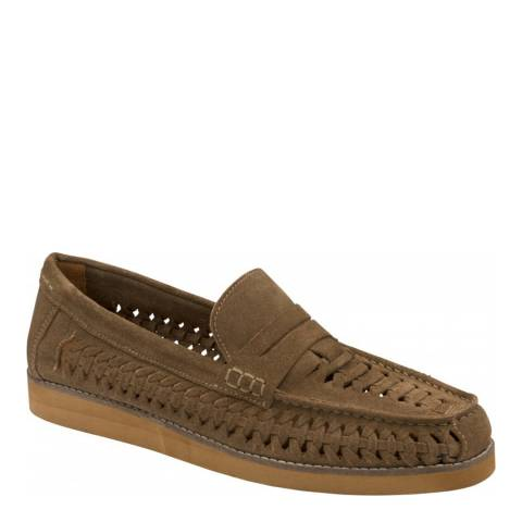 Frank Wright Tan Crosby Suede Loafer