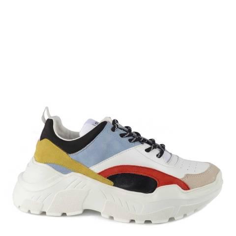 Philip Hog Black/Multi Amanda Leather Sneakers