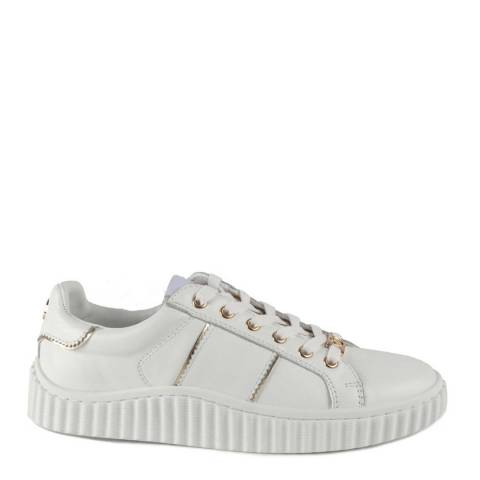 Philip Hog White Mila Leather Sneakers