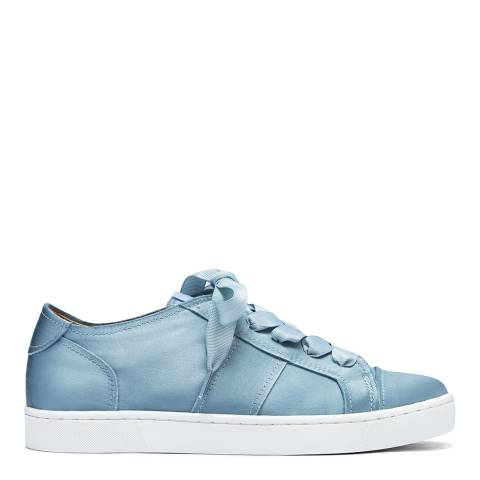 Philip Hog Blue Shiny Satin Sneakers