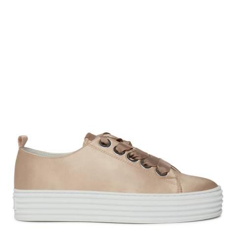 Philip Hog Beige Viola Satin Sneakers