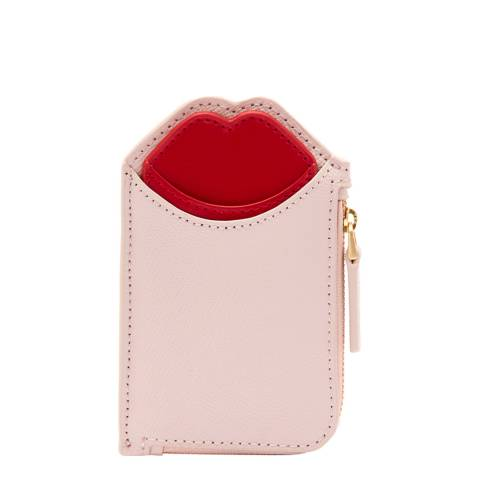 Lulu Guinness BLUSH RED  POP OUT LIP LILIANA WALLET