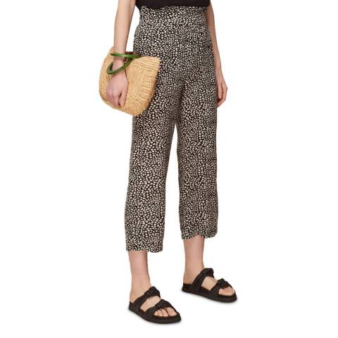 WHISTLES Multi Spotted Animal Wide Leg Trousers