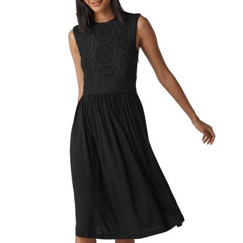WHISTLES Black Seaton Jersey Dress