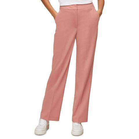 WHISTLES Pink Aliza Tailored Wool Blend Trousers