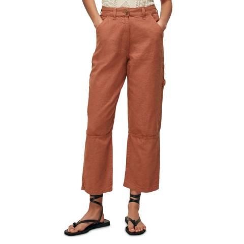 WHISTLES Terracotta Amenia Cotton Cargo Trousers