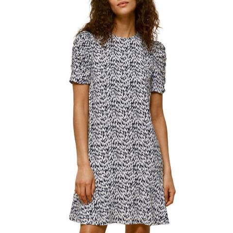 WHISTLES Multi Petal Print Dress