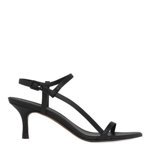WHISTLES Black Milana Asymmetric Leather Sandals