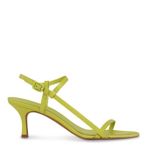 WHISTLES Lime Milana Asymmetric Leather Sandals