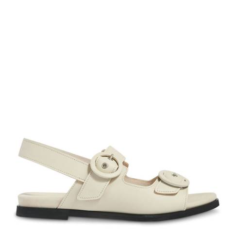 WHISTLES Stone Marcie Buckle Leather Sandals