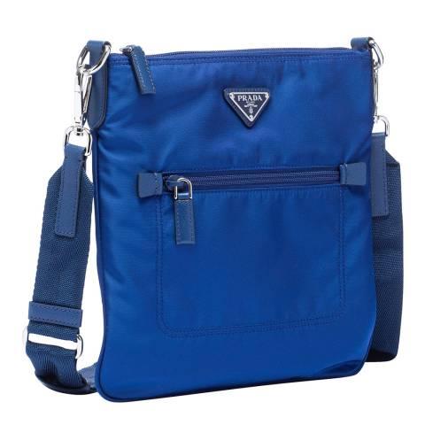Prada Blue Nylon Messenger Bag