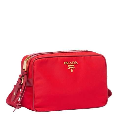 Prada Red Nylon Crossbody Bag