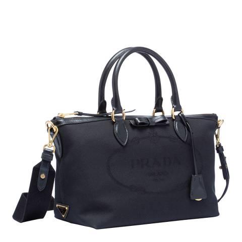 Prada Black Nylon 2 Way Tote Bag