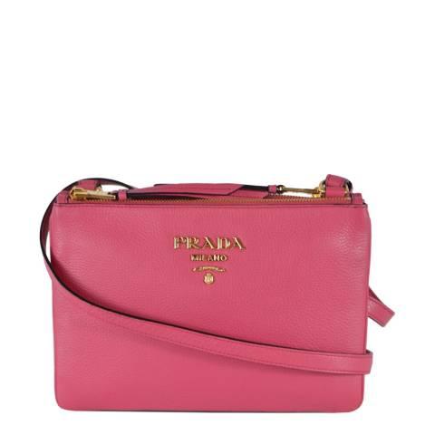 Prada Pink Leather Crossbody Bag